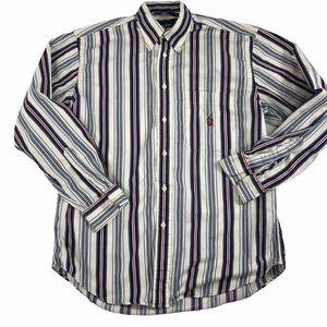 Nautica vintage men's striped button down. Sz M